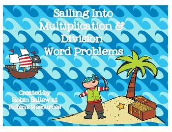 Multiplication and Division word problem task cards: pirate theme