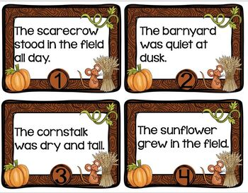 Task Cards Scarecrow Compound Words