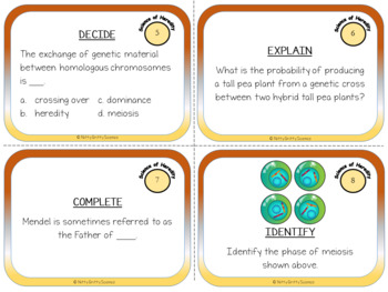Genetics: Science of Heredity - Life Science Task Cards