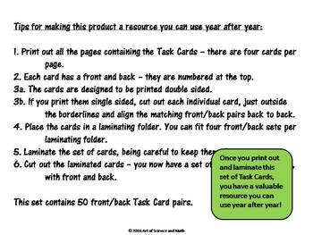 Task Cards - Scientific Notation - Middle and High School Science and Math