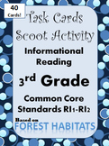Task Cards Scoot Activity 3rd Grade Reading Comp Informational Standards
