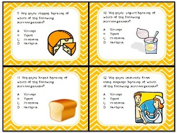 Task Cards Scoot Activity Cells, Microorganisms, Harmful and Beneficial Effects