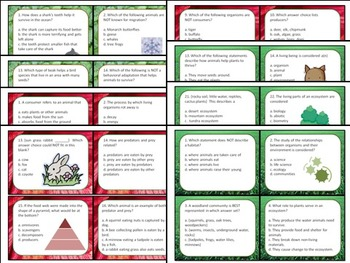Task Cards Scoot Activity Ecology, Communities, Food Webs, Adaptations
