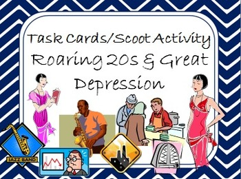 Task Cards Scoot Activity Roaring 20s and the Great Depression