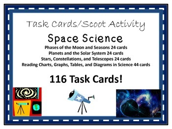 Task Cards Scoot Activity Stars, Planets, Solar System