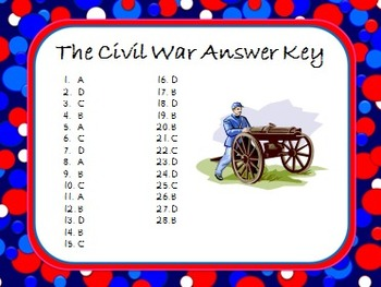 Task Cards Scoot Activity The Civil War and Reconstruction 56 Task Cards