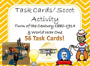 Task Cards Scoot Activity The Turn of the Century 1880-1914 and World War One