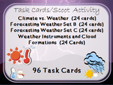 Task Cards Scoot Activity Weather Tools, Clouds, Forecasting