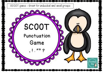 Task Cards/Scoot Punctuation