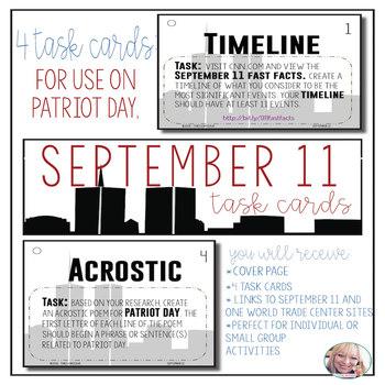 Task Cards - September 11