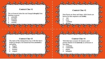 Task Cards: Set of 28 Context Clue Task Cards