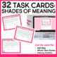 Women's History Month Task Cards: Shades of Meaning Words
