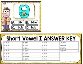 Task Cards (Short Vowels)