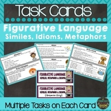 Figurative Language Task Cards: Similes, Metaphors and Idioms