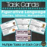 Figurative Language Task Cards: Similes, Metaphors and Idioms
