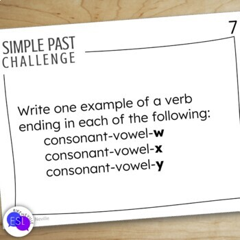 Simple Past Task Cards