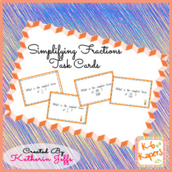 Task Cards - Simplifying Fractions