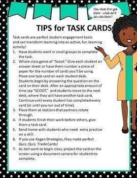 Math Task Cards - Sixth Grade Algebraic Equations