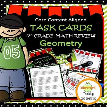 Task Cards - Sixth Grade Math Geometry