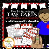 Math Task Cards - 6th Grade Statistics/Probability - Mean, Median, Number Lines