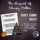 Task Cards Sleepy Hollow (Bloom's Taxonomy)