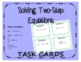 Task Cards: Solving Two-Step Equations