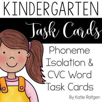 Task Cards: Phoneme Isolation and CVC Words