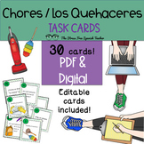 Task Cards: Spanish, Chores / Quehaceres and House / Homes