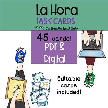 Task Cards: Spanish, La Hora / Time