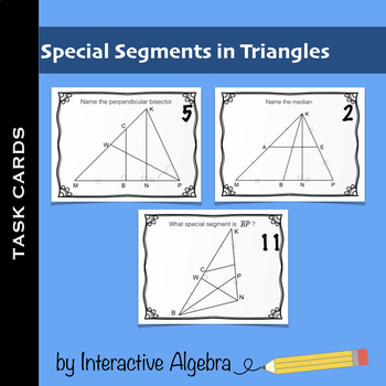 Segments In Triangle Worksheets & Teaching Resources | TpT