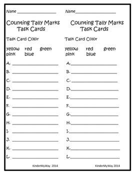 Task Cards - Tally Marks