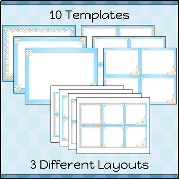 Task Cards Template BLANK/EDITABLE Daisy Chain Theme
