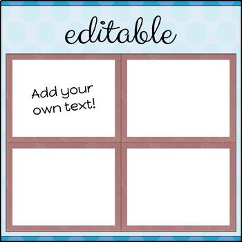 Task Cards Template BLANK/EDITABLE Elegant Marble Theme