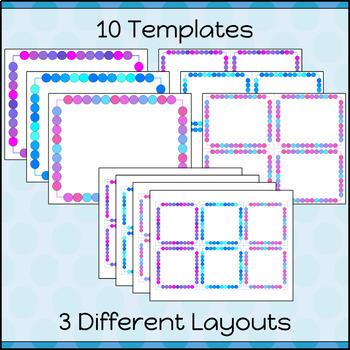 Task Cards Template BLANK/EDITABLE Neon Lights Theme