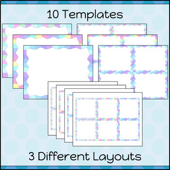 Task Cards Template BLANK/EDITABLE Pastel Borders Theme