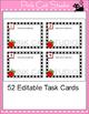Editable Task Cards Template - Apple Theme