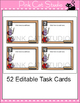 Editable Task Card Template - Ladybug Theme
