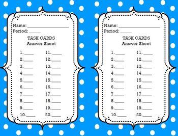 Task Cards Template: {Editable/Savable} PDF