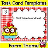 Editable Task Cards Template - Farm Theme