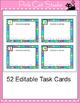 Task Cards Template - Polka Dot Rainbow Theme - Editable