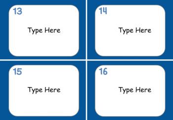 Task Card Templates - Editable