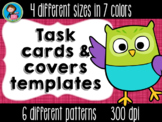 Task Cards Templates Earthy Colors Bundle 4 sizes