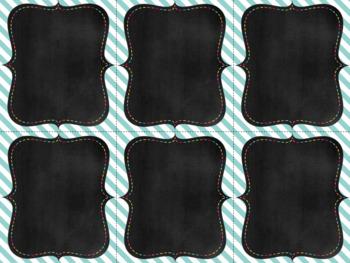 Task Cards Templates Gangnam Blues Bundle 4 sizes