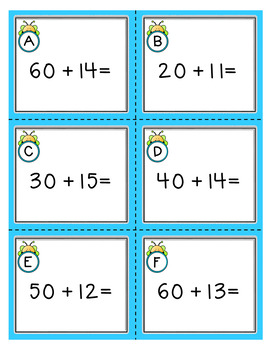 Addition Task Cards: Tens + Teens