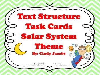 Task Cards Text Structure Solar System Theme