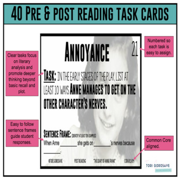 """Task Cards - """"The Diary of Anne Frank"""""""