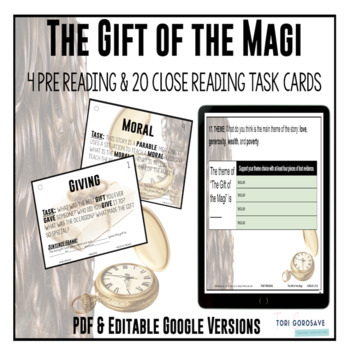 "Task Cards - ""The Gift of the Magi"""