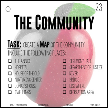 Task Cards - The Giver