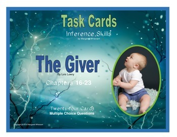 Giver Task Cards--Inference Skills Chapter 16-Chapter 23