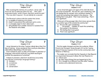 Giver Task Cards--Inference Skills Chapters 11-15